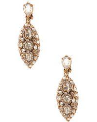 Oscar de la Renta - Navette Pave Crystal Earrings - Lyst
