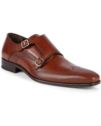 Mezlan - 16285 Double Monk-strap Leather Oxfords - Lyst
