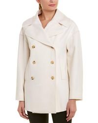 Valentino Double-breasted Wool Coat - White