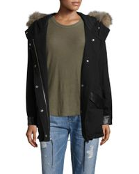 The Kooples - Hooded Cotton Parka - Lyst