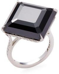 Paolo Costagli - Emerald Cut Spinel, Platinum & Diamond 11 O'clock Ring - Lyst