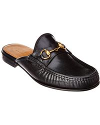 Gucci Horsebit Leather Slipper