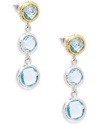 Gurhan | Galapagos Blue Topaz Drop Earrings | Lyst