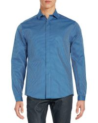 Vince Camuto - Regular-fit Check Cotton Sportshirt - Lyst