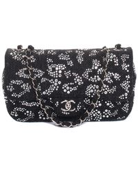 e49709f88e27 Chanel - Limited Edition Grey Quilted Wool Classic Strass Flap Shoulder Bag  - Lyst