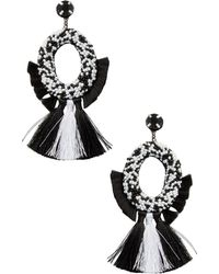 Deepa Gurnani - Fringe Tassel Statement Earrings - Lyst