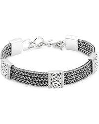 Lois Hill - Handwoven Sterling Silver & Diamond Bracelet - Lyst