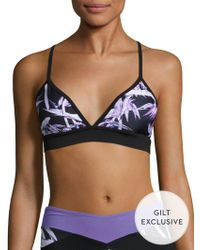 Body Language Sportswear - Barre Printed Sports Bra - Lyst