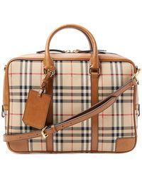 Burberry - Horseferry Check Crossbody Briefcase - Lyst