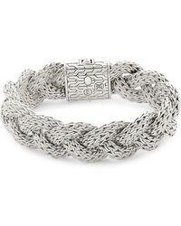 John Hardy - Sterling Silver Braided Classic Chain Bracelet - Lyst