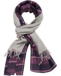 """Donni Charm - Donni Merge Plaid Wool Scarf, 88"""" X 18"""" - Lyst"""