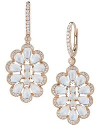 Dana Rebecca - Designs Courtney Lauren 14k Rose Gold 10.71 Ct. Tw. Diamond & Blue Moonstone Drop Earrings - Lyst