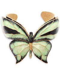 RED Valentino - Butterfly Motif Cuff Bracelet - Lyst