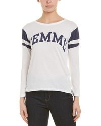 Pam & Gela - Shrunken Football T-shirt - Lyst