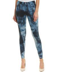Hue - Printed Washed Denim Leggings - Lyst