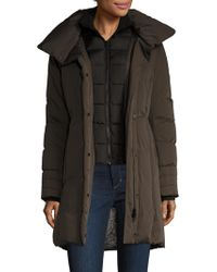 SOIA & KYO - Alsia Cotton Down Hooded Coat - Lyst