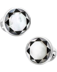 Ox and Bull Trading Co. - Sterling Silver & Mother Of Pearl Mosaic Cufflinks - Lyst