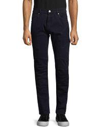 Balmain - Slim Moto Jeans - Lyst