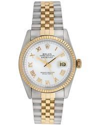 Rolex - Vintage Rolex Two-tone Stainless Steel Datejust Watch, 36mm - Lyst