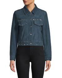 VEDA - Wynona Embellished Leather Jacket - Lyst