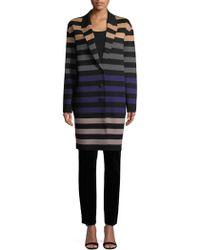 Diane von Furstenberg - Striped Car Coat - Lyst