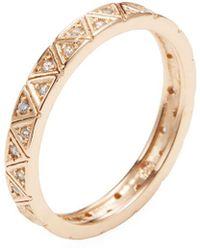 Shashi - Geo Pave Ring - Lyst