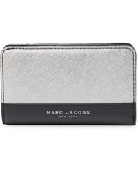 Marc Jacobs - Colorblocked Compact Wallet - Lyst