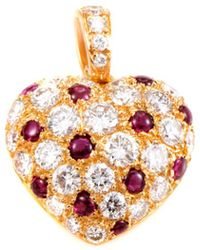 Cartier - Cartier 18k 2.30 Ct. Tw. Diamond & Ruby Heart Enhancer - Lyst
