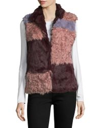 Annabelle New York - Nina Plush Patch Fur-trimmed Vest - Lyst