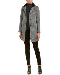 Maje - Wool-blend Coat - Lyst