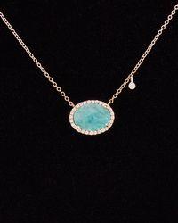 Meira T - 14k & Silver 3.42 Ct. Tw. Diamond & Blue Amazonite Necklace - Lyst