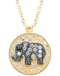 Gabi Rielle - 22k Over Silver Cz Elephant Necklace - Lyst