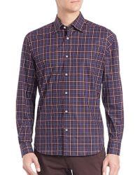 Saks Fifth Avenue - Plaid Long Sleeve Shirt - Lyst