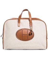 Hermès - Beige Canvas Bariena Travel Bag - Lyst