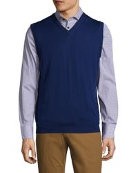 Tocco Toscano - Wool V-neck Sweater Vest - Lyst