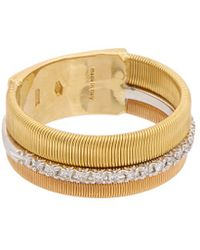 Marco Bicego - Masai 18k Tri-tone .13 Ct. Tw. Diamond Ring - Lyst