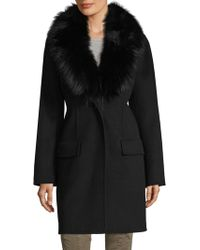 Pure Navy - Outerwear Coat Long - Lyst