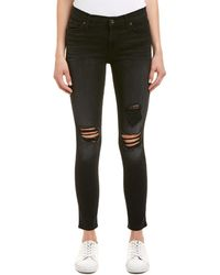 7 For All Mankind - 7 For All Mankind Aged Onyx 2 Ankle Skinny Leg - Lyst