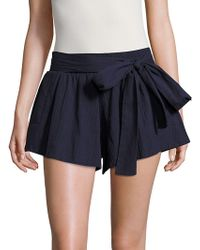 State Of Being - Solid Cotton-blend Shorts - Lyst