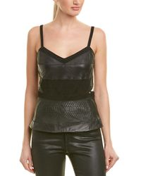 Ramy Brook - Stassi Leather Top - Lyst