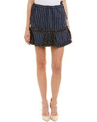 Anna Sui - Wanderlust Linen-blend Mini Skirt - Lyst