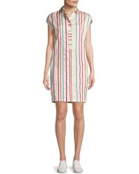 Loro Piana | Striped Shift Dress | Lyst