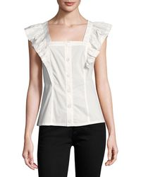 Tracy Reese - Gathered Trim Top - Lyst