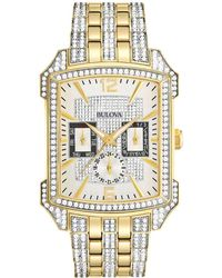 Bulova - Men's Stainless Steel Watch - Lyst