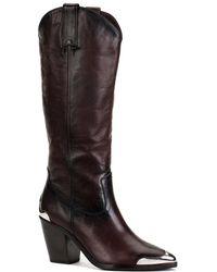 Frye - Faye Metal Plate Leather Boot - Lyst