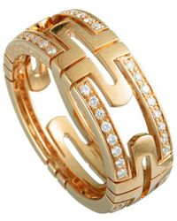 BVLGARI - 18k Rose Gold 0.70 Ct. Tw. Diamond Ring - Lyst