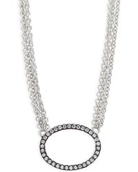 Freida Rothman - Sterling Silver Pave Ring Pendant Necklace - Lyst