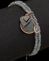 Meira T - 14k Rose 6.41 Ct. Tw. Diamond & Labradorite Bracelet - Lyst