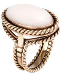 Estate Fine Jewelry - Vintage Coral Cocktail Ring - Lyst