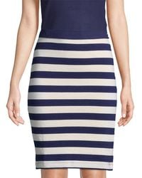 33ed07f528e7c6 MDS Stripes - Paley Pencil Skirt - Lyst